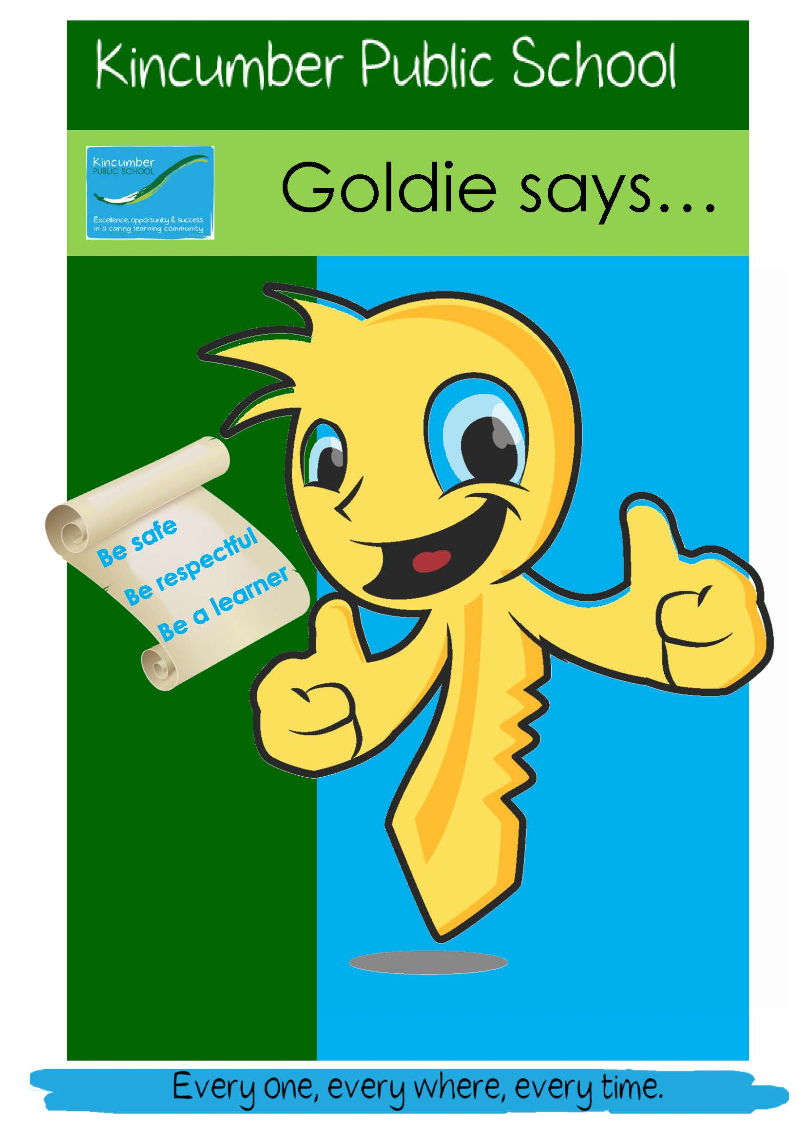 goldie says